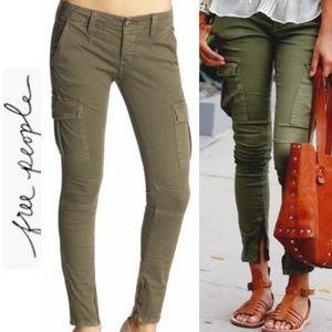 Free People Military Skinny Cargo Pants